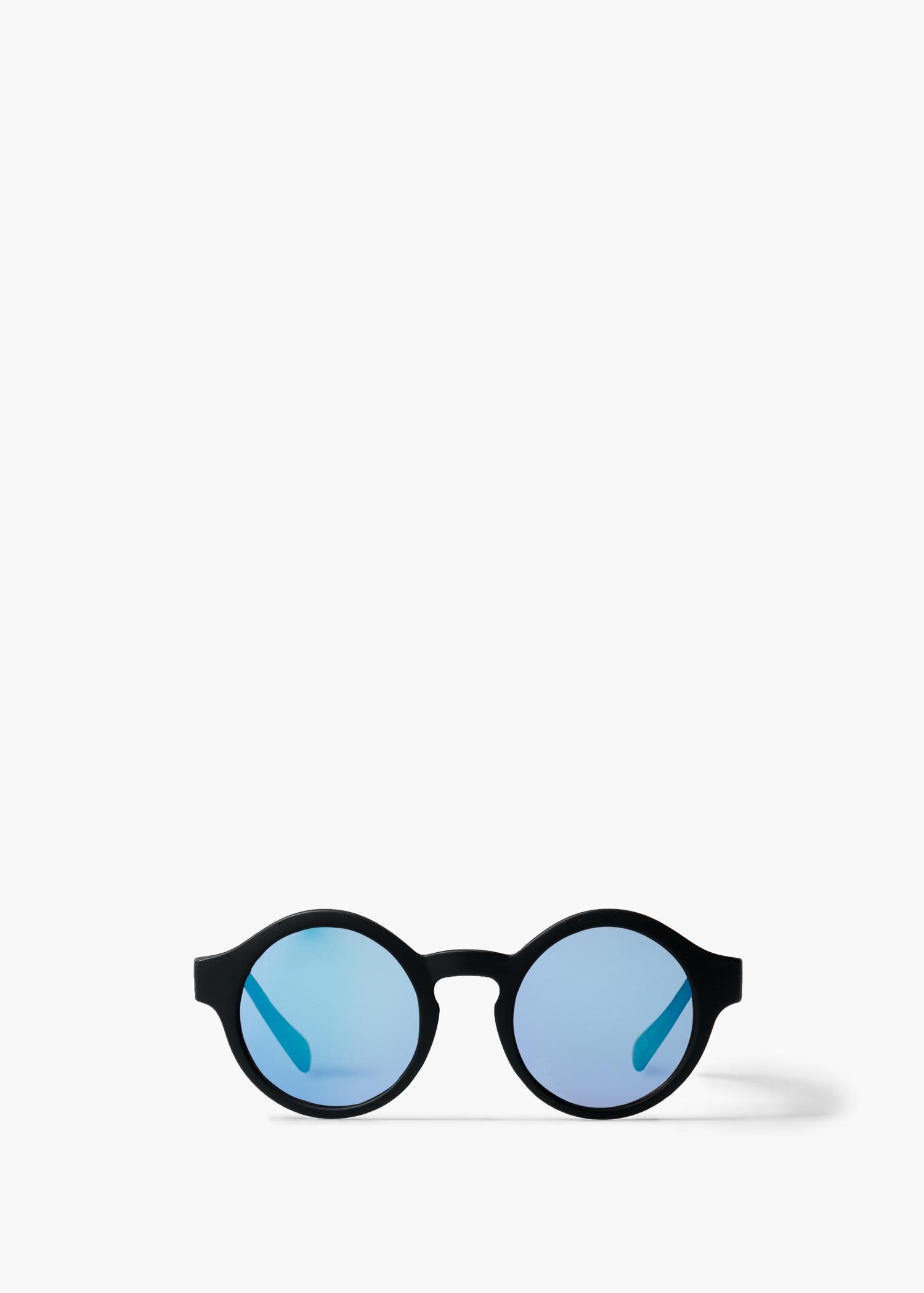 Lyst - Mango Matte Frame Sunglasses in Black