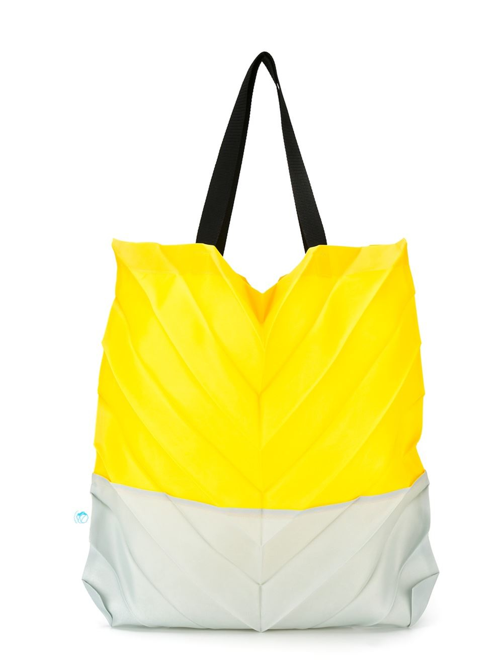 Issey Miyake Cauliflower Pleated Tote Bag in Yellow & Orange (Yellow)