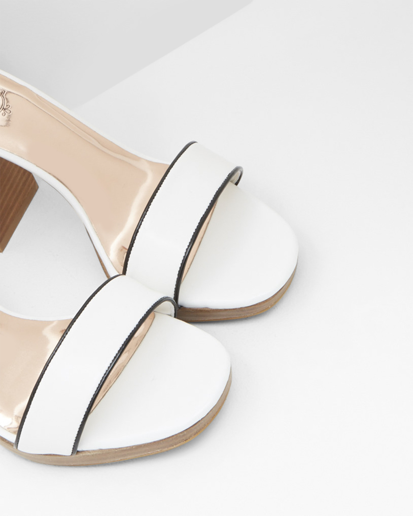 537a8d83f Ted Baker Open Toe Block Heeled Platform Sandals in White - Lyst