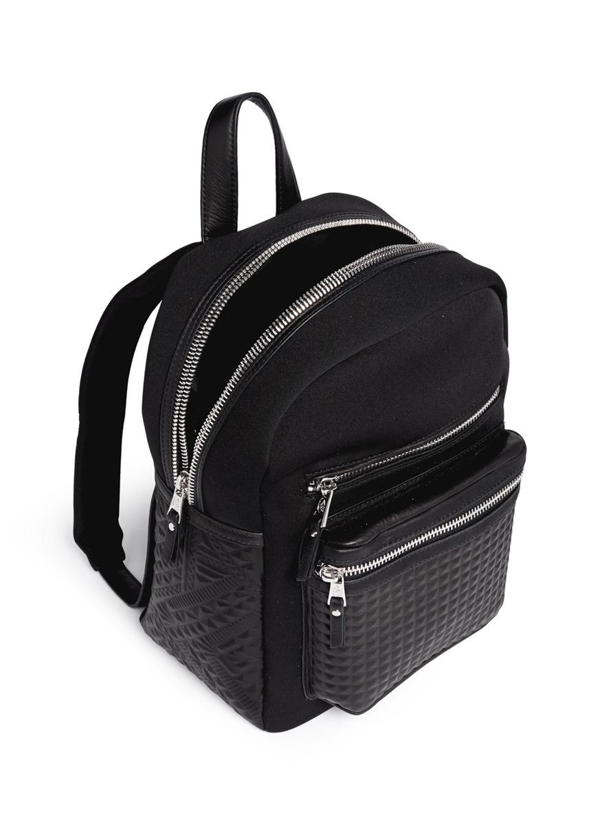 Ash Neema Embossed Leather Neoprene Small Backpack In