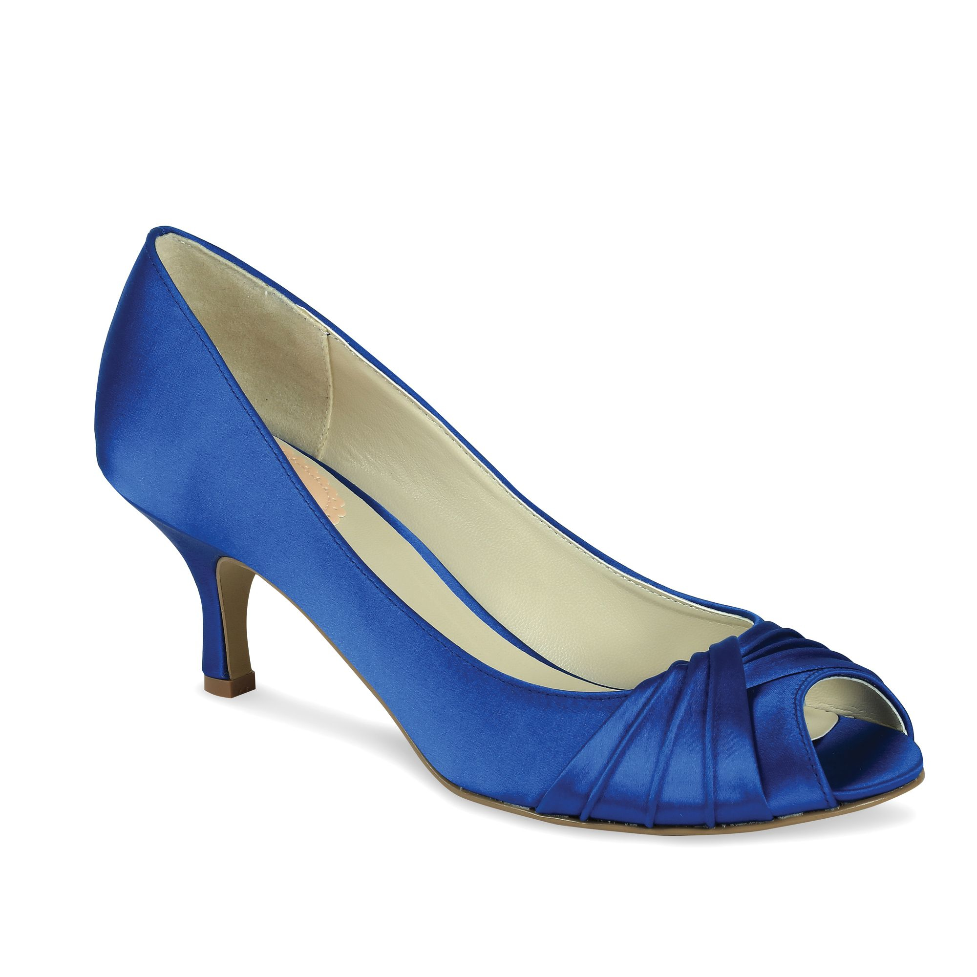 paradox pink peep toe shoes in blue lyst