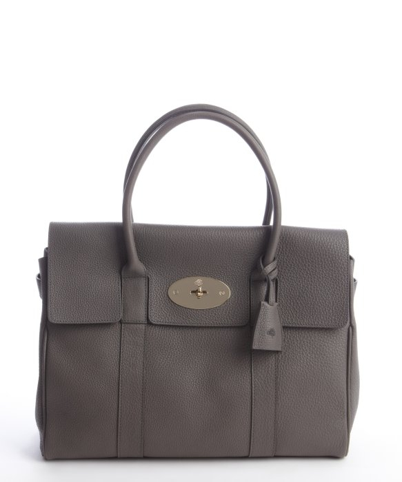 ... get lyst mulberry stone grey pebbled leather bayswater top handle bag  24e49 64980 71eaeab59dfba