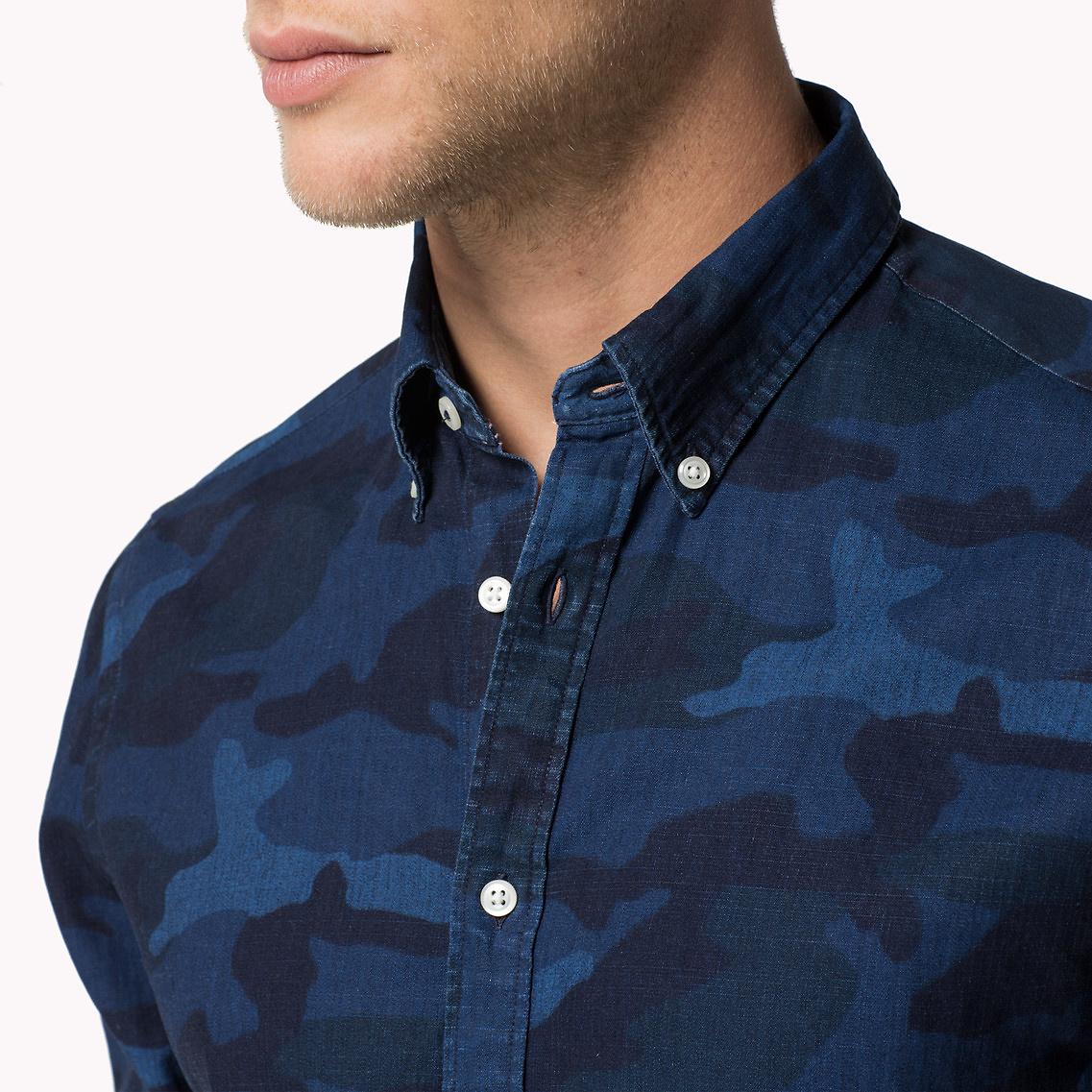6346ab3328a8b Blue Camo Shirts Mens