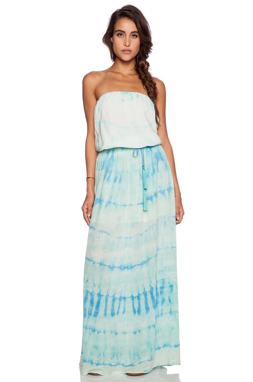 Lyst - Gypsy 05 Silk Tube Maxi Dress in Blue
