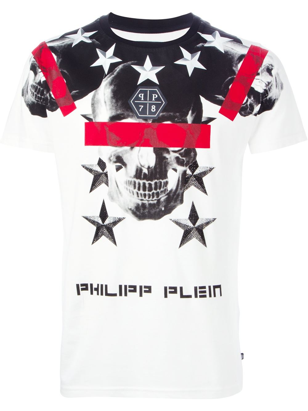 philipp plein 39 cryptic 39 t shirt in white for men lyst. Black Bedroom Furniture Sets. Home Design Ideas