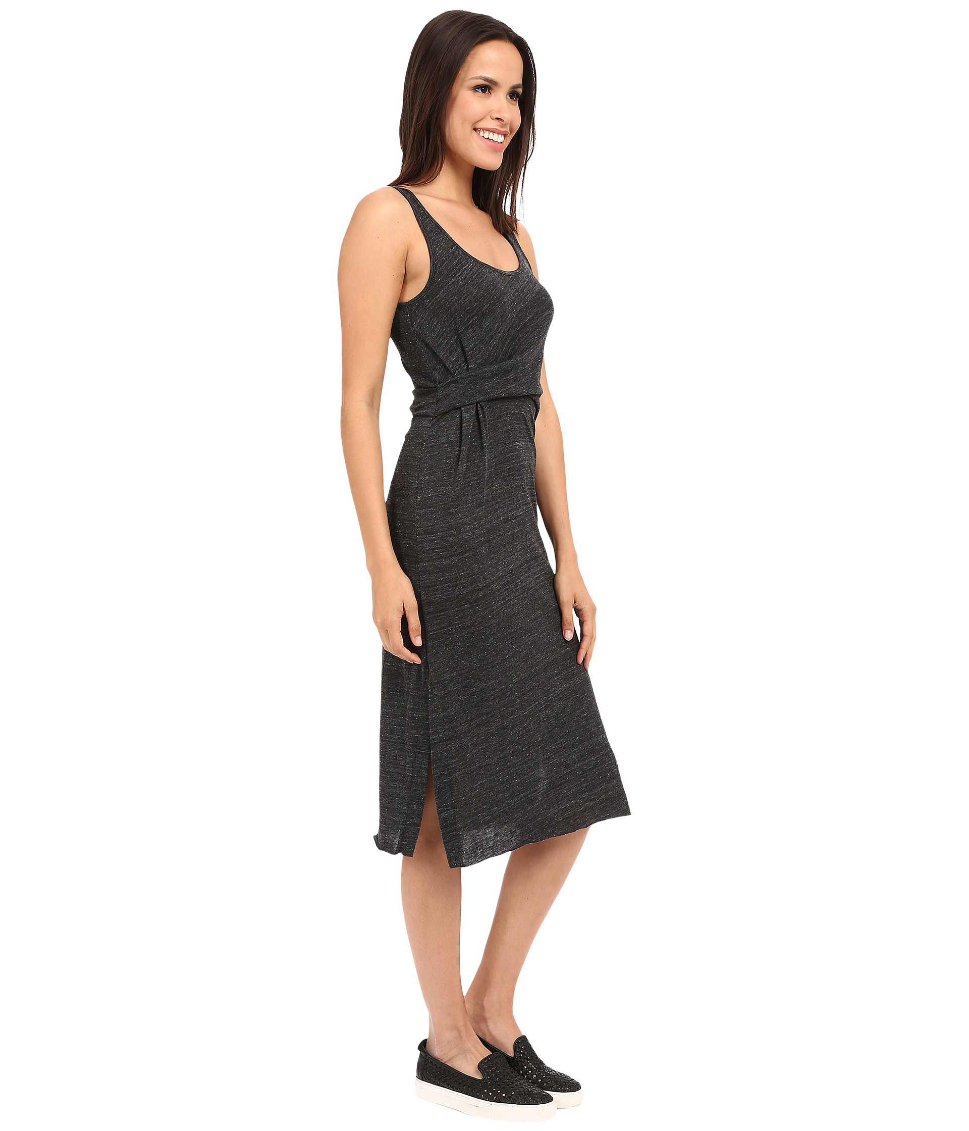 700653fee86 Lyst - Alternative Apparel Eco Jersey York Midi Dress in Black