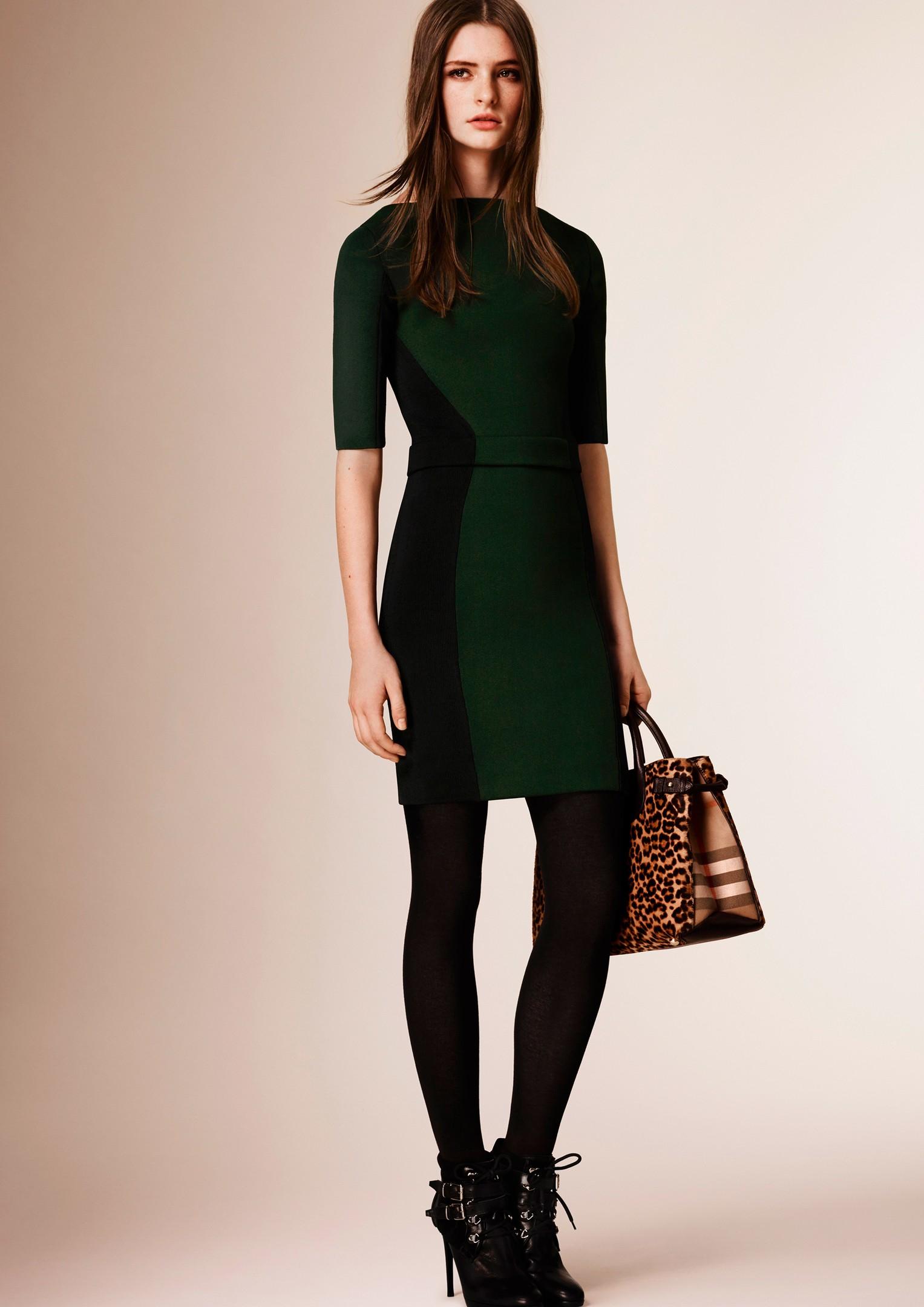 lyst burberry knit dress in green. Black Bedroom Furniture Sets. Home Design Ideas
