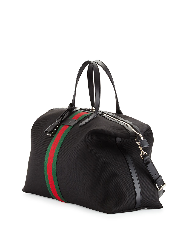 24fb3346c35 Lyst - Gucci Techno Canvas Duffel Bag in Black for Men