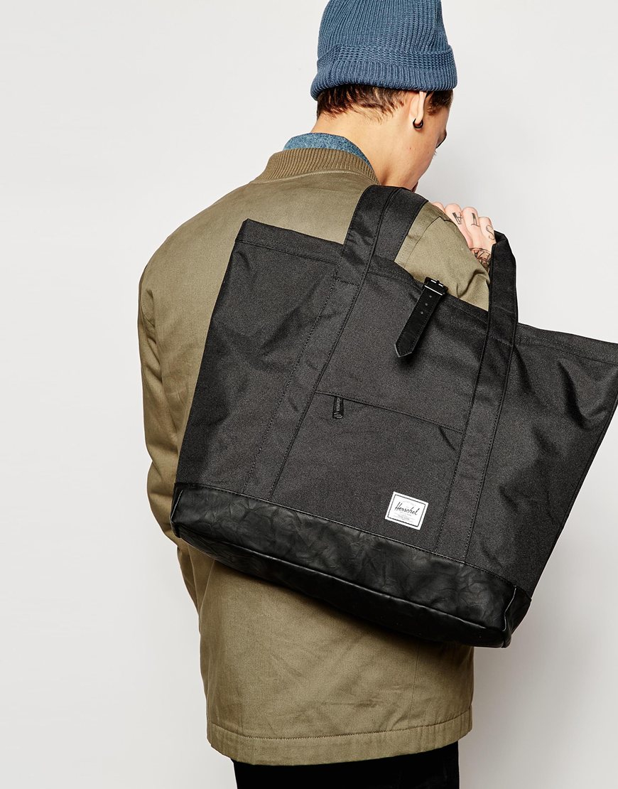 83a614c61 Herschel Supply Co. Herschel Market Xl Tote Bag in Black - Lyst