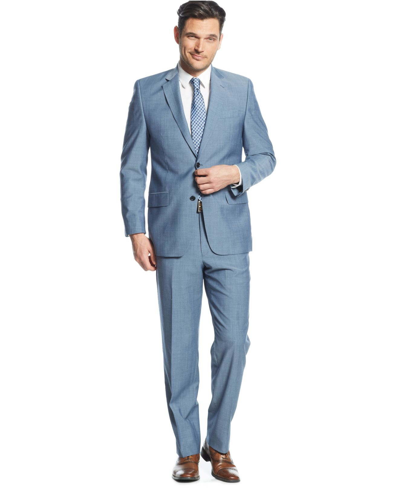 Lyst Michael Kors Michael Light Blue Sharkskin Suit In