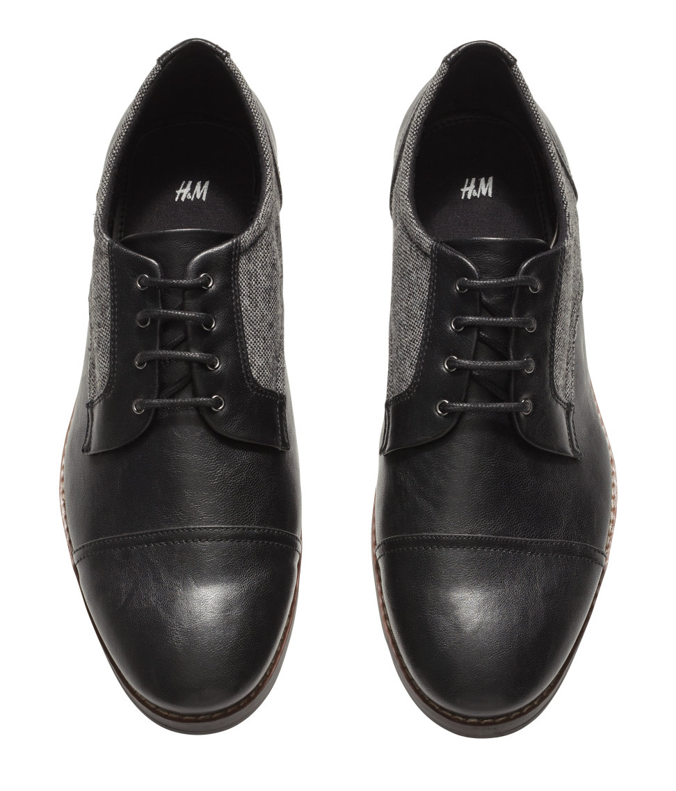 h m derby shoes in black for lyst
