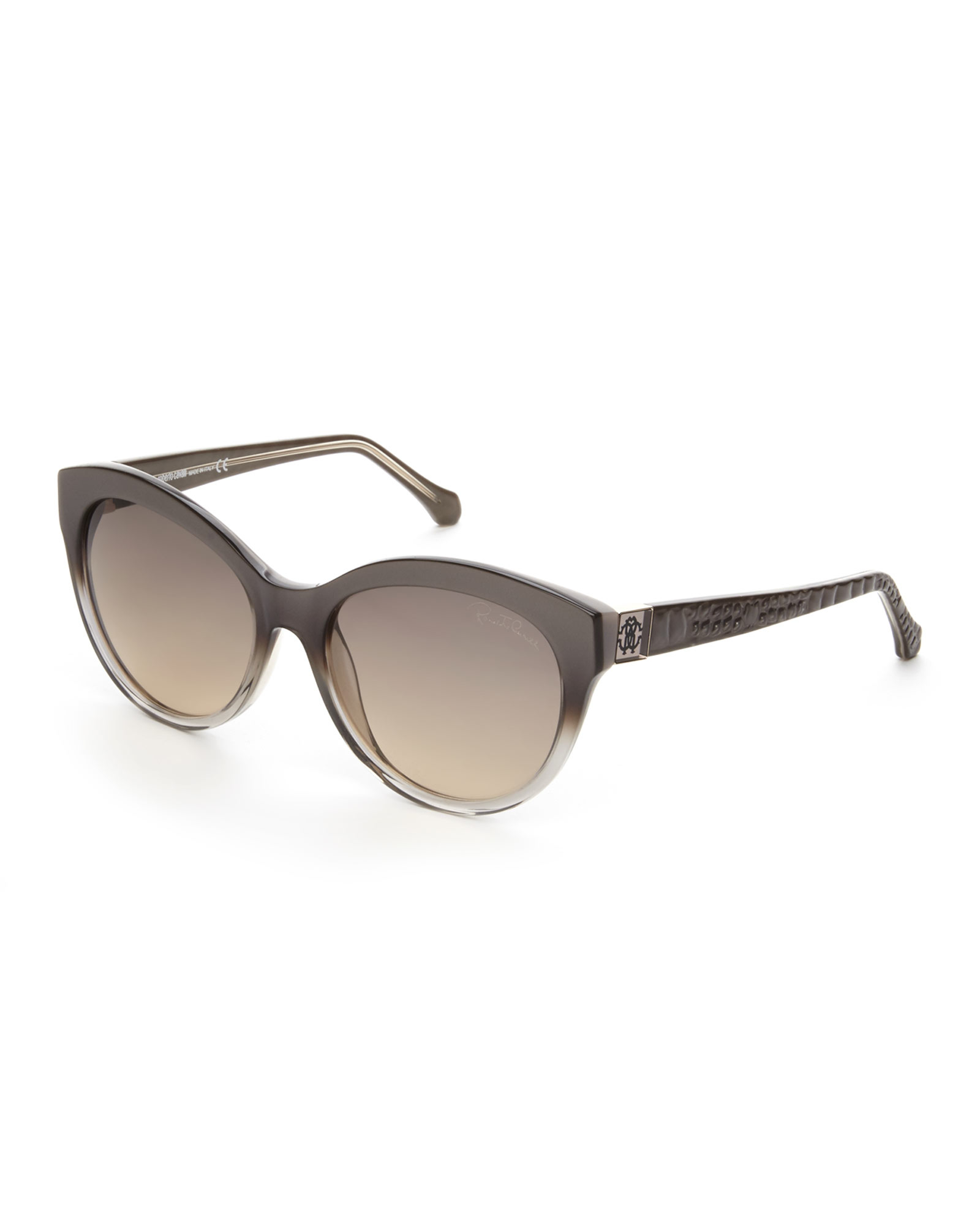 roberto cavalli grey albaldah xl cat eye sunglasses in