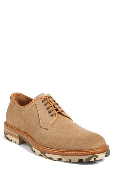 Aquatalia James Weatherproof Plain Toe Derby In Brown