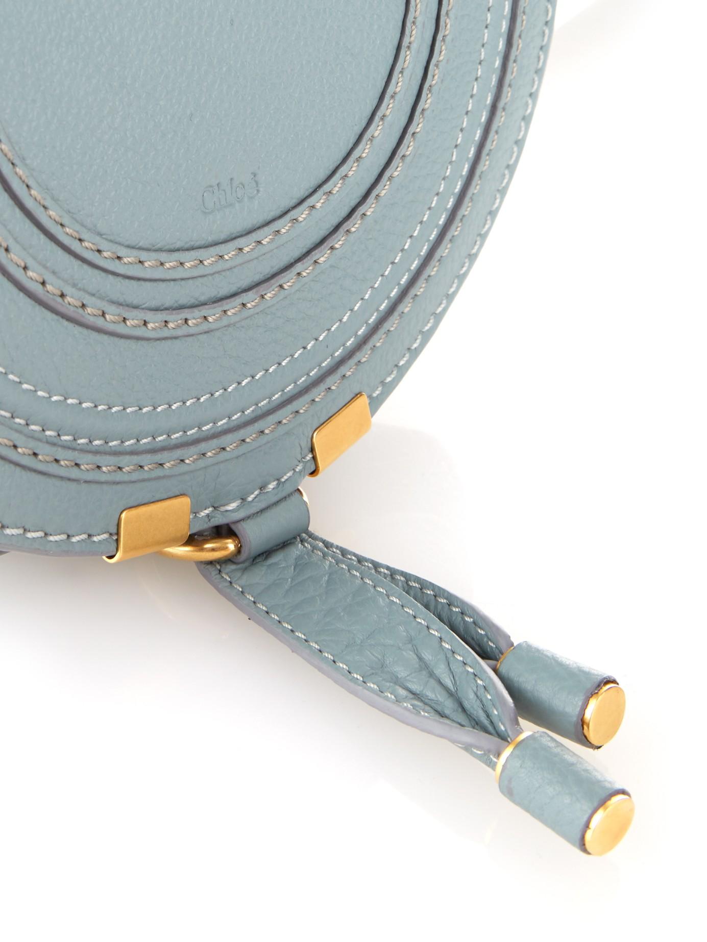 Chlo¨¦ Marcie Mini Leather Cross-body Bag in Blue (LIGHT BLUE) | Lyst