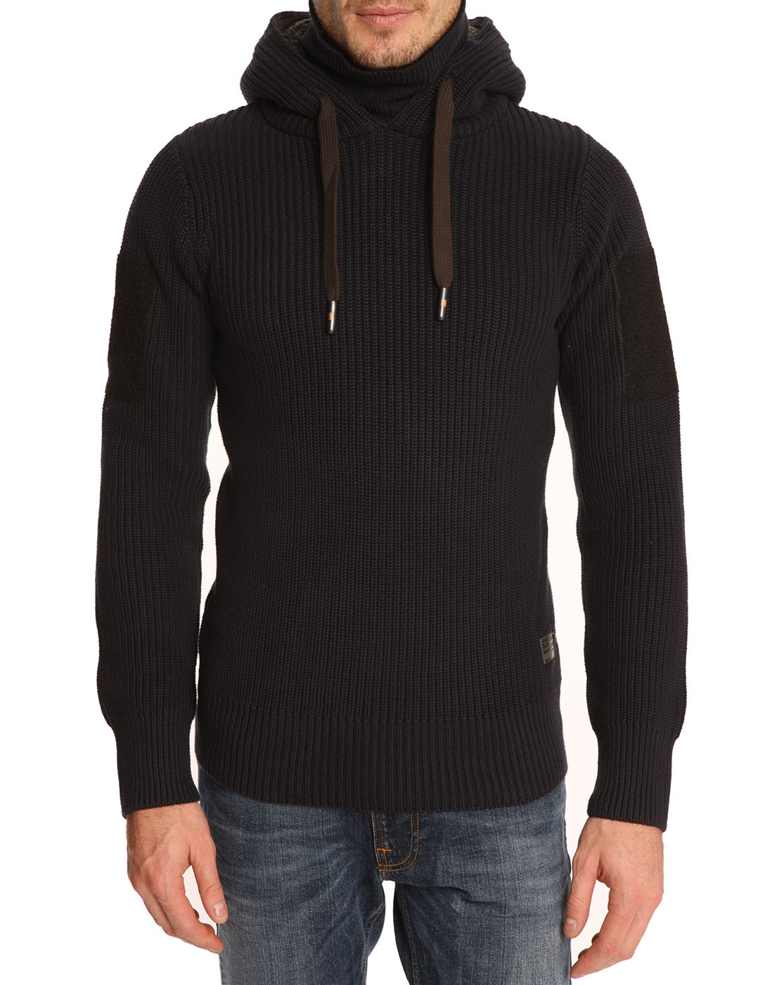 g star raw hunt hooded rollneck sweater in blue for men lyst. Black Bedroom Furniture Sets. Home Design Ideas