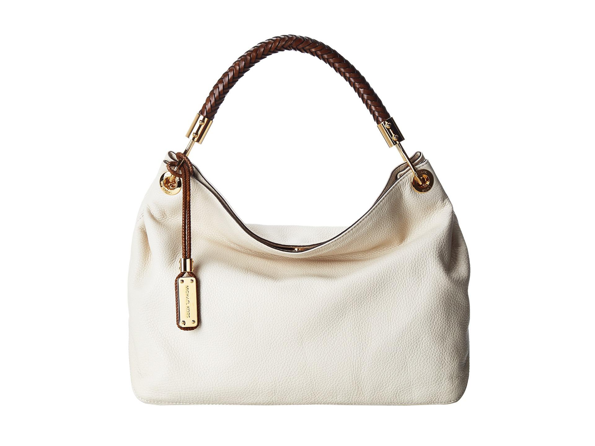 0c46d8230b7f39 ... sale lyst michael kors skorpios large shoulder bag in white 79bca 7a6ff  ...
