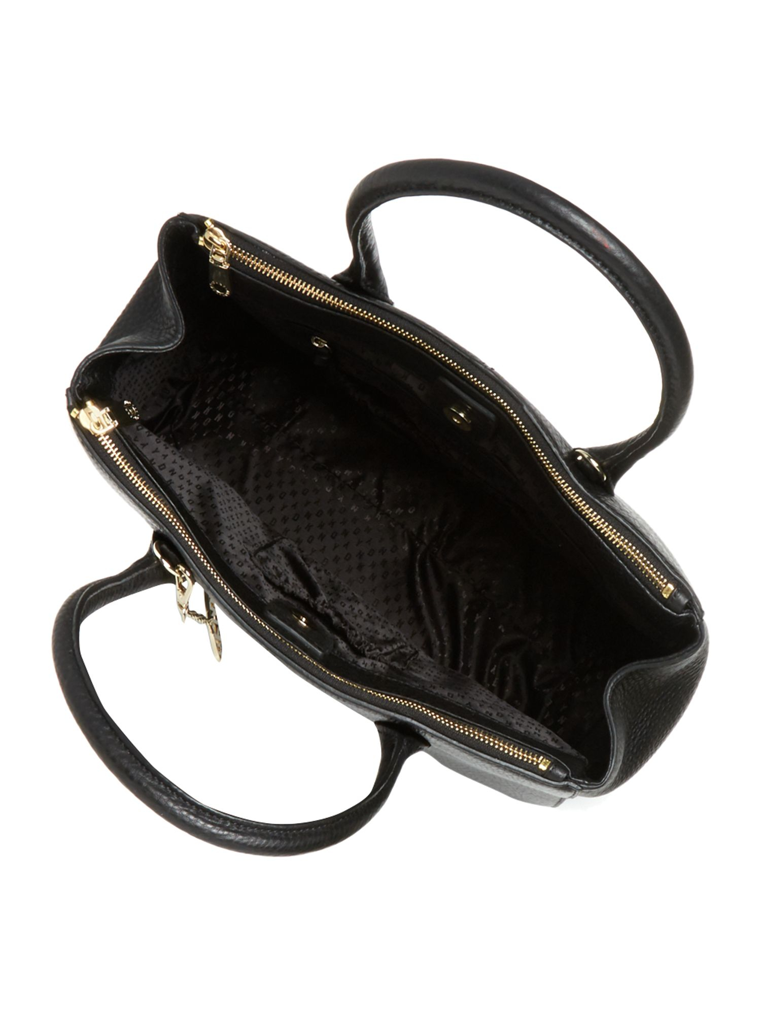 Dkny Tribeca Black Double Zip Tote Bag in Black | Lyst