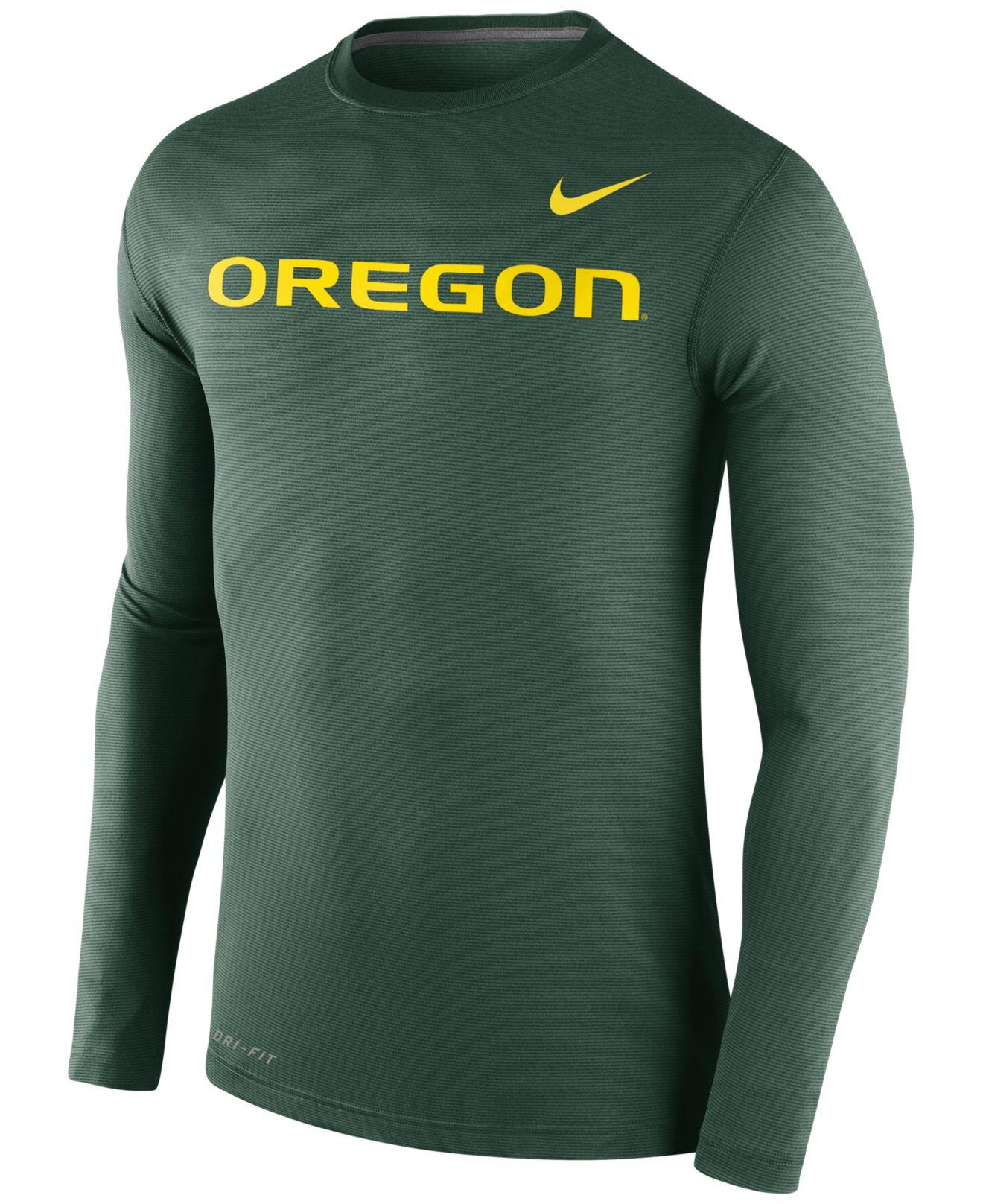 Lyst - Nike Men's Long-sleeve Oregon Ducks Stadium Dri-fit ...