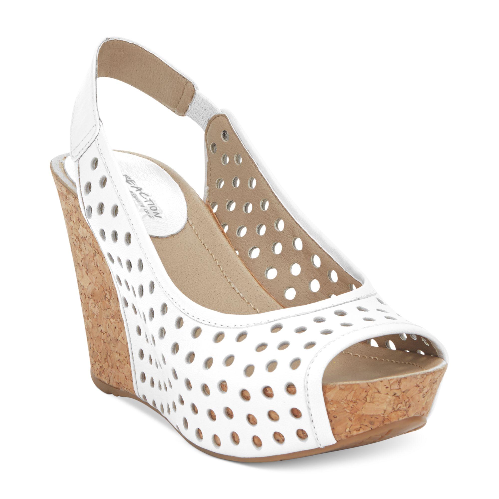 kenneth cole reaction soley roller platform wedge sandals