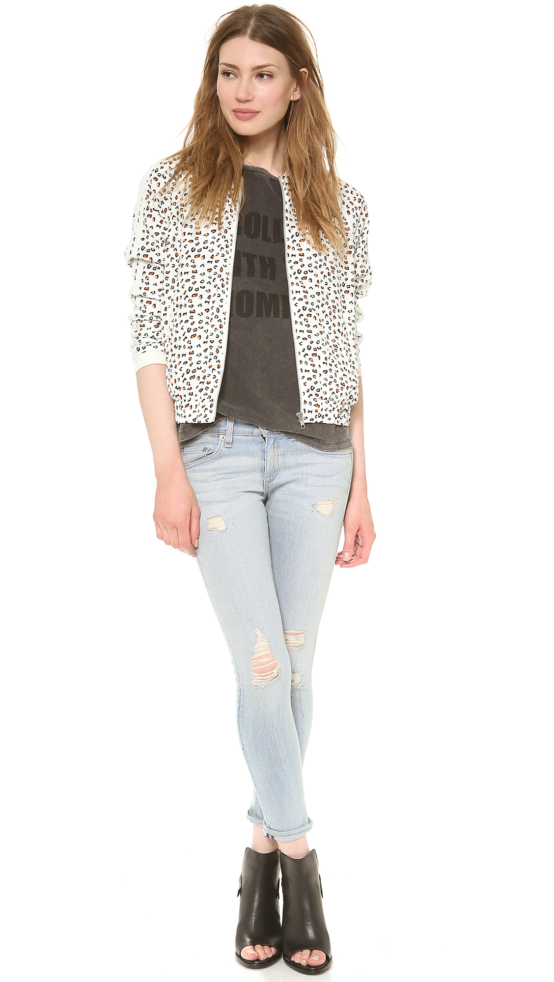 Maison scotch silky feel bomber in multicolor multi lyst for About maison scotch