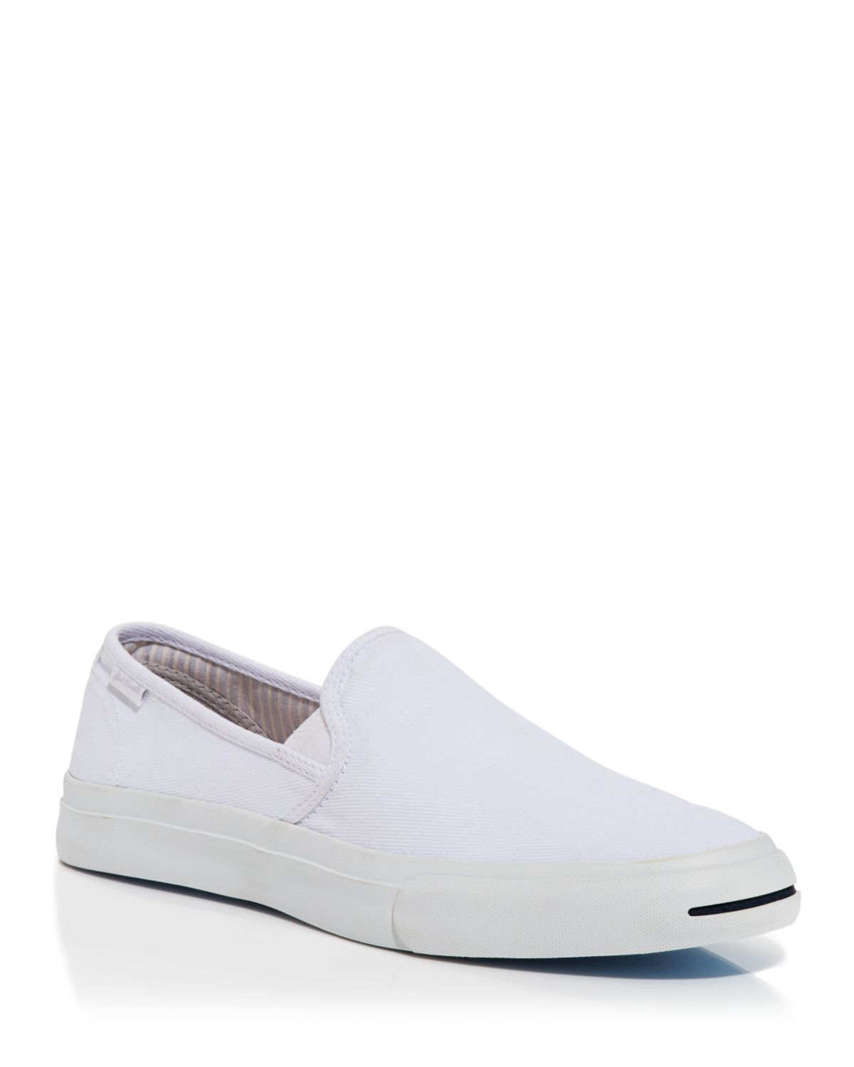 converse purcell slip on sneakers in white for lyst