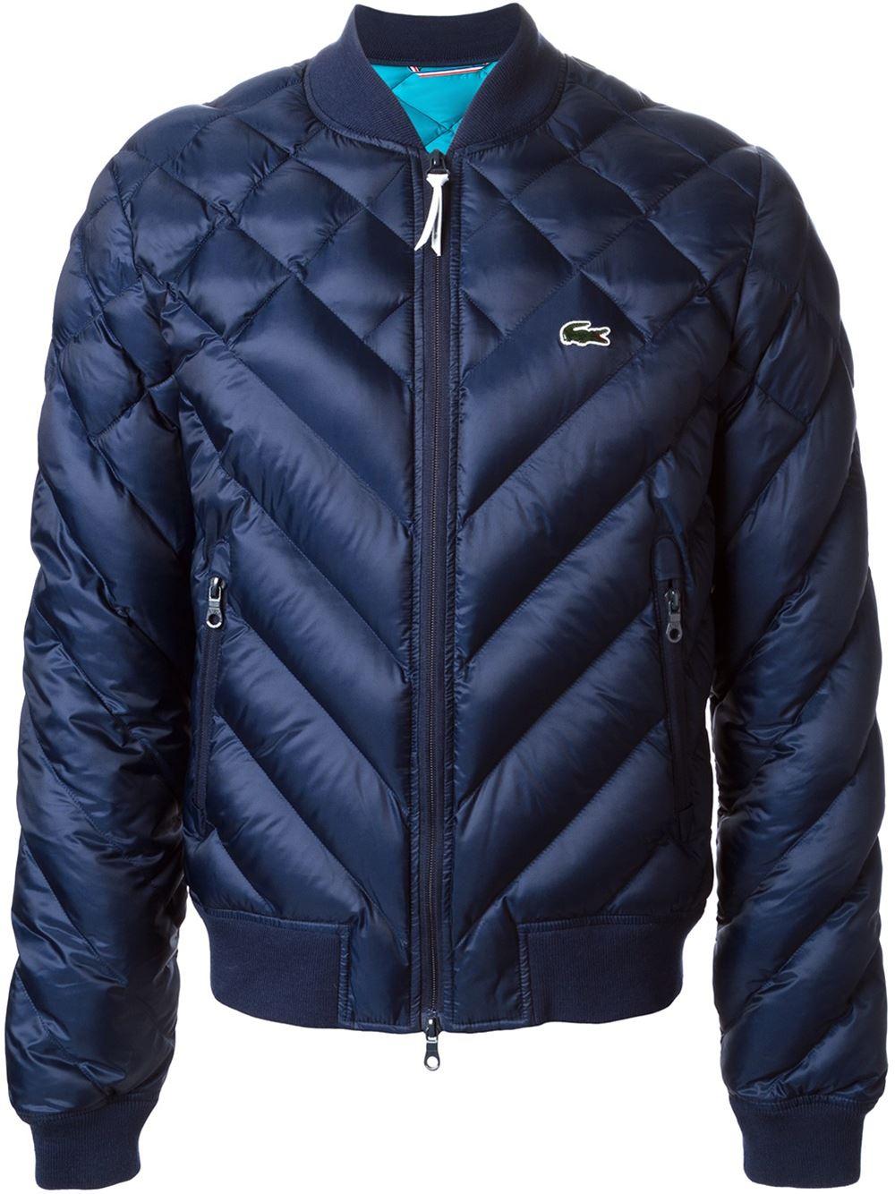 lacoste l ive quilted jacket in blue for men lyst. Black Bedroom Furniture Sets. Home Design Ideas