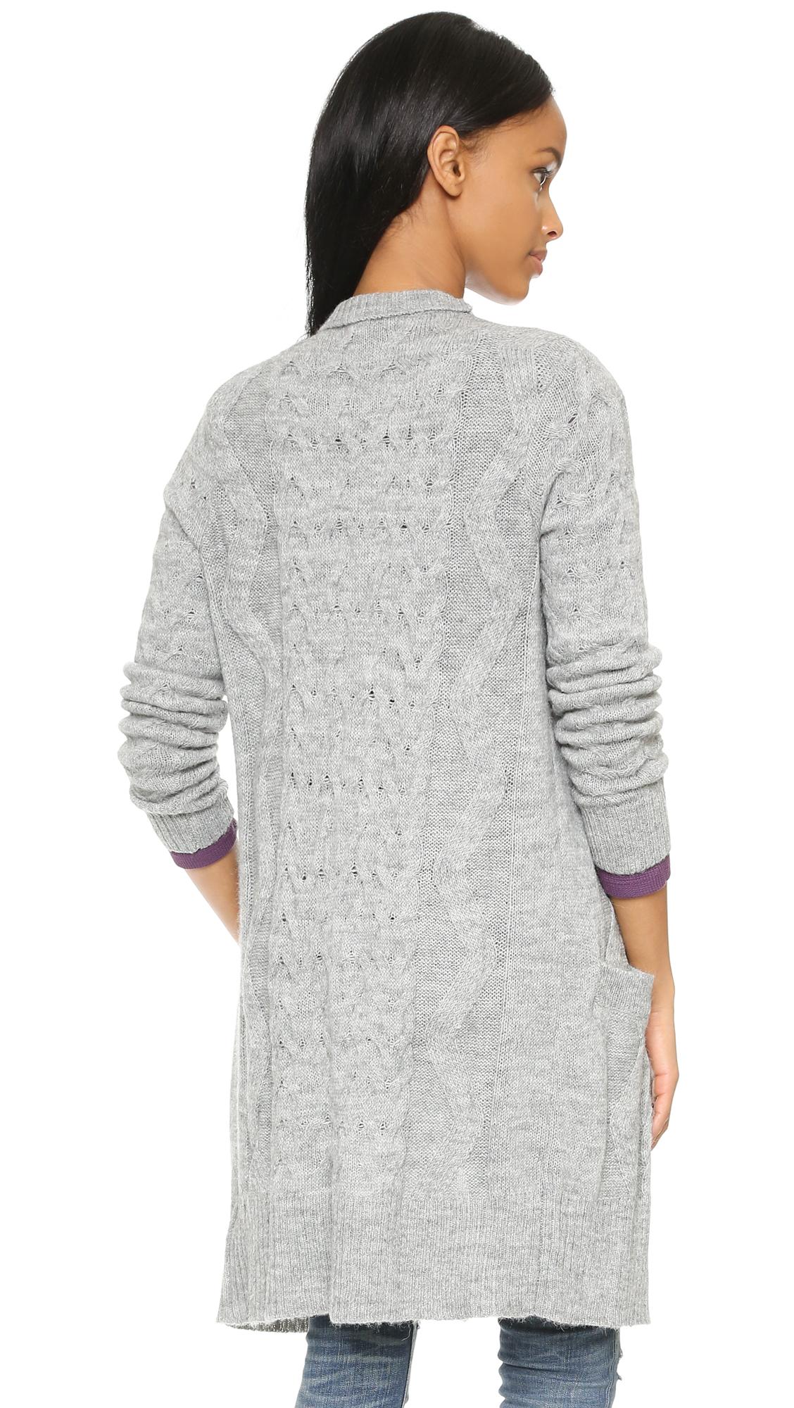 Lyst Splendid Downtown Duster Cardigan Slate In Gray
