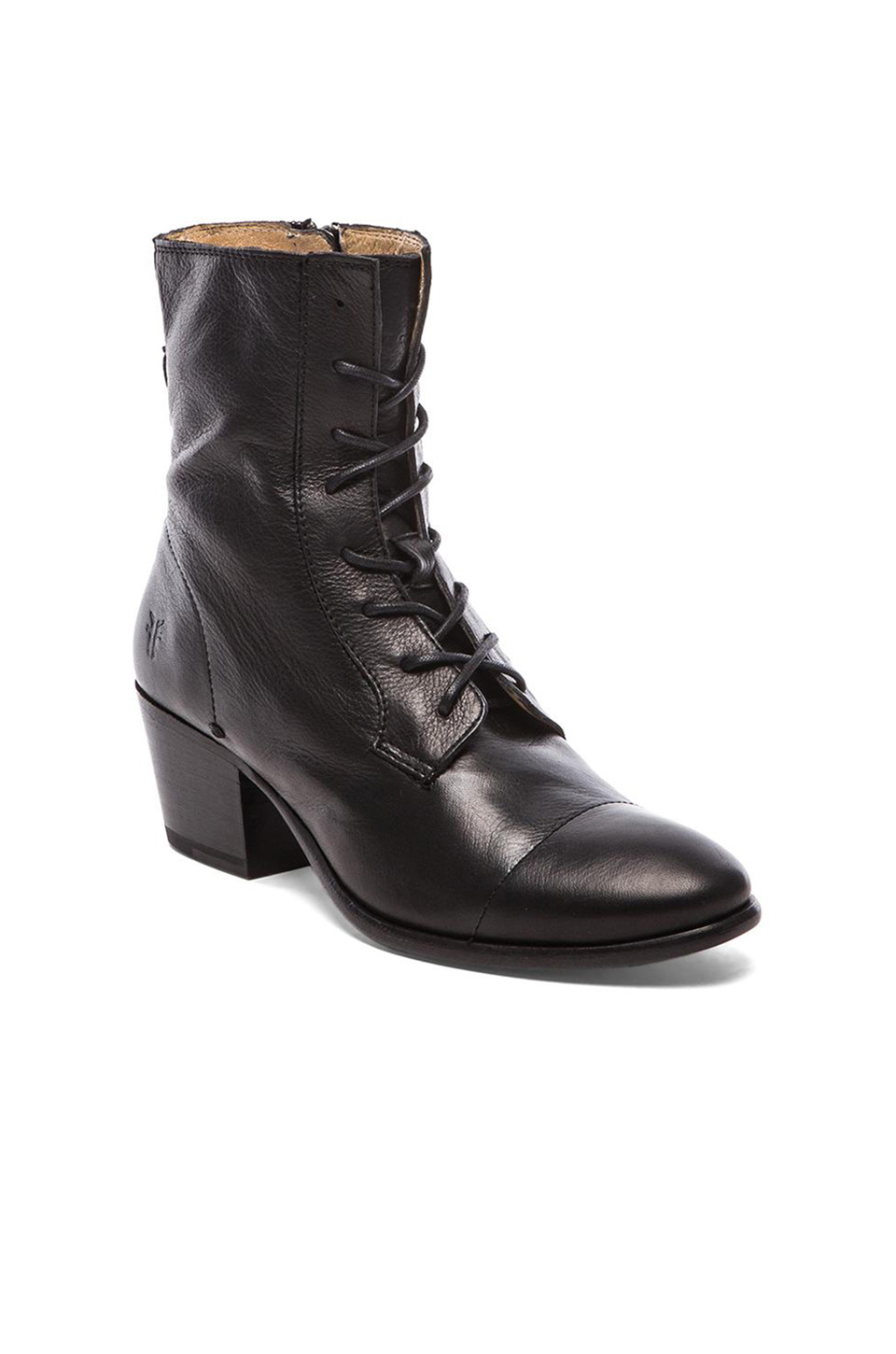 Frye Leather Courtney Lace Up Boot In Black Lyst