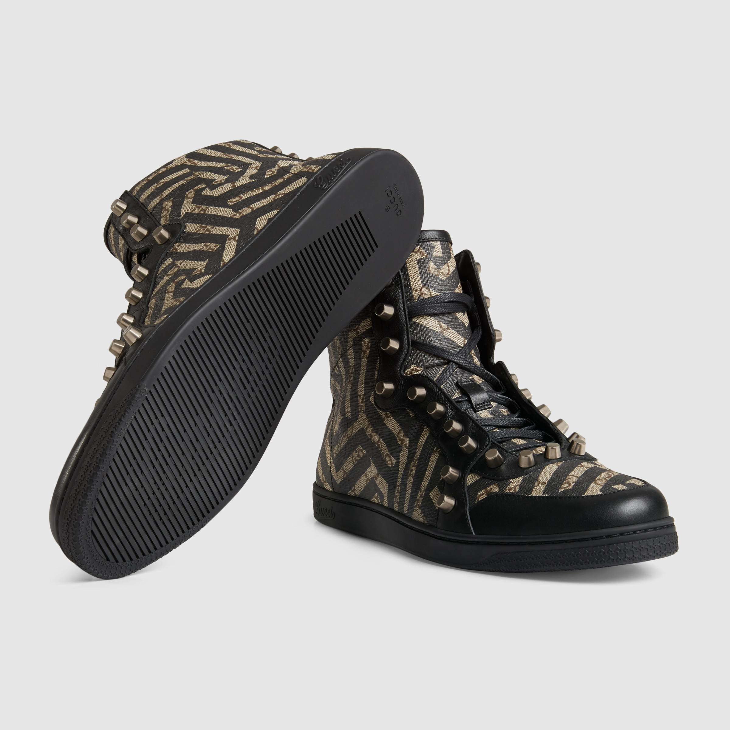 6f55489c1 Gucci Gg Caleido High-top With Studs in Black for Men - Lyst