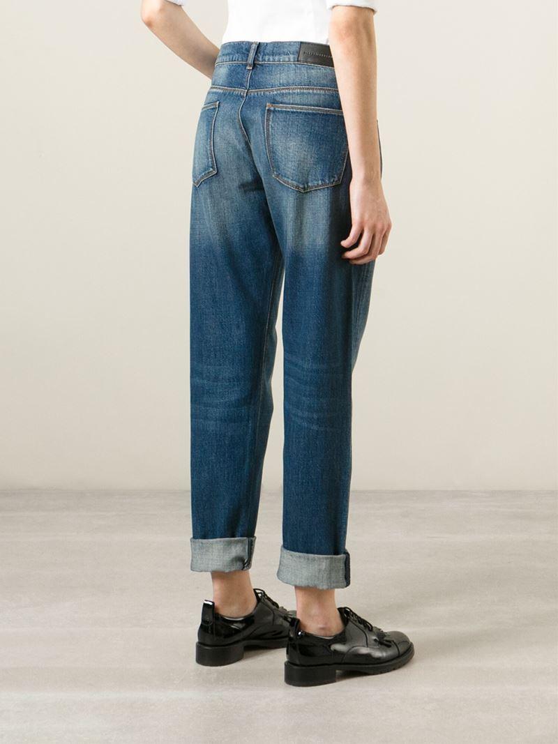 Lyst - Victoria Beckham Boyfriend Jeans in Blue