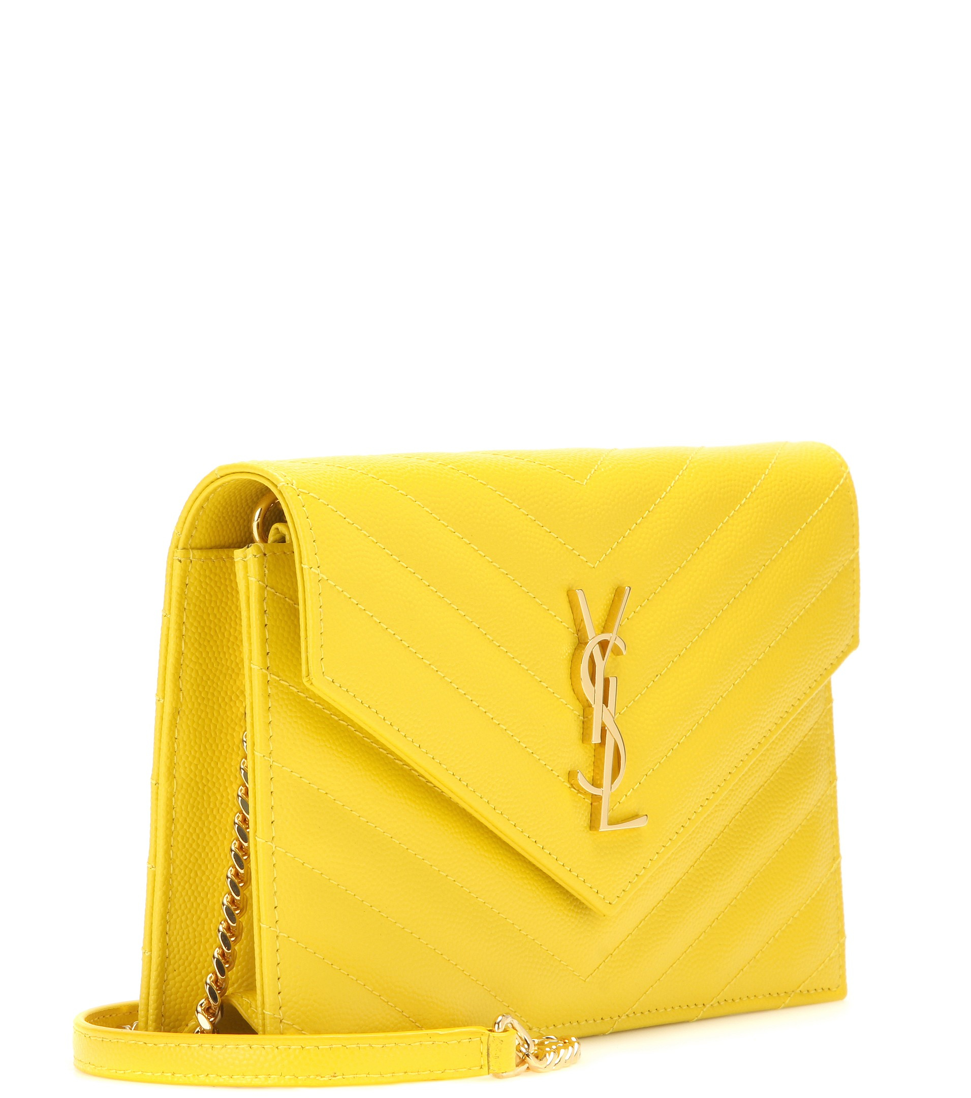 f89f8b6e7b Saint Laurent Classic Monogram Quilted Leather Shoulder Bag in ...