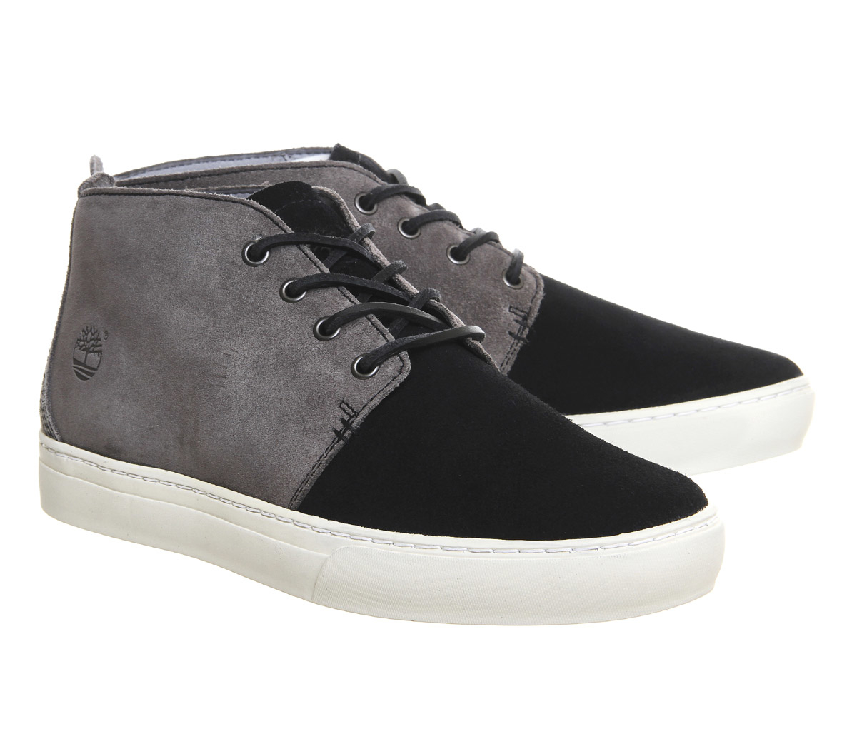 timberland 2 0 cupsole suede chukka boots in black for