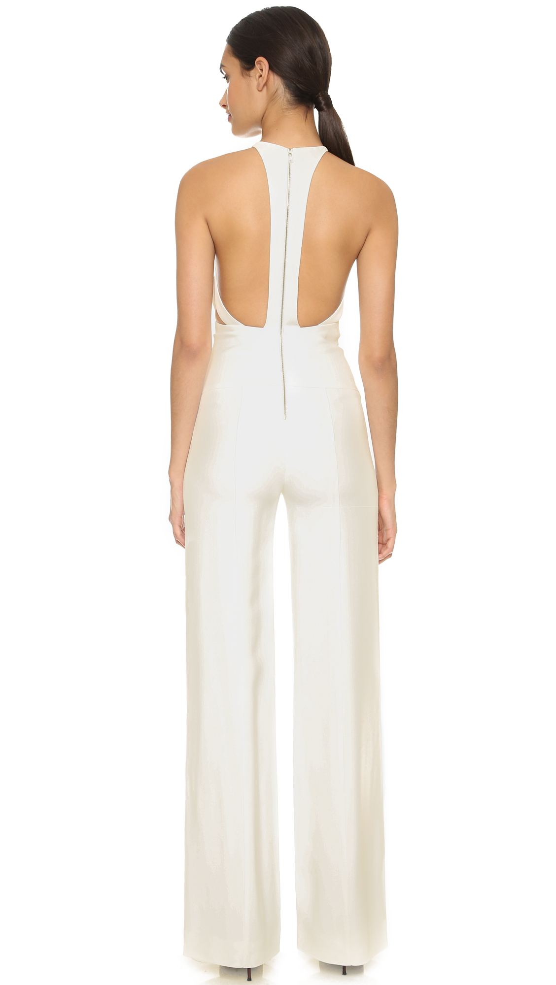 417d574f4c3 Lyst - Narciso Rodriguez Harness Back Jumpsuit - White in White