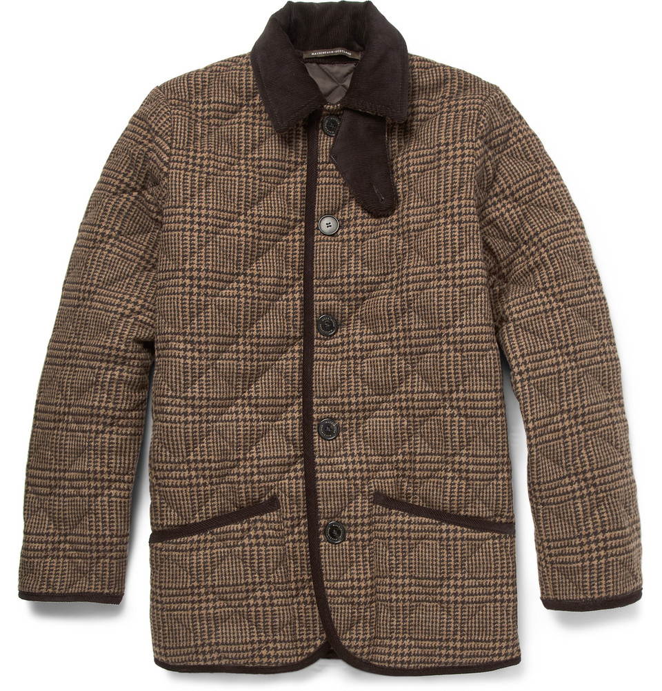 Lyst Mackintosh Waverly Prince Of Wales Check Quilted