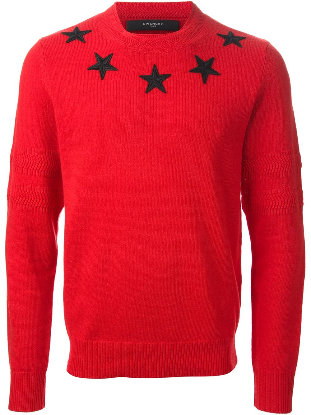 givenchy star sweater in red for men lyst. Black Bedroom Furniture Sets. Home Design Ideas