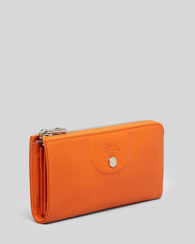 Longchamp Wallet Le Pliage Cuir Zip Around Continental In