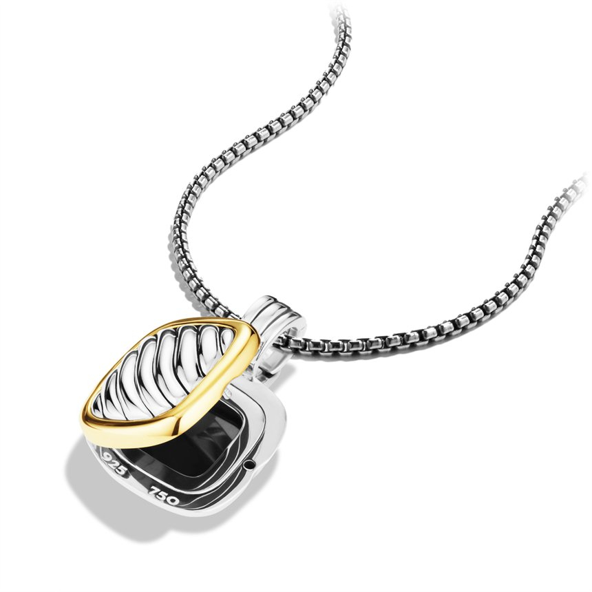 Relatively Lyst - David Yurman Sculpted Cable Square Locket with Gold in Metallic PS09