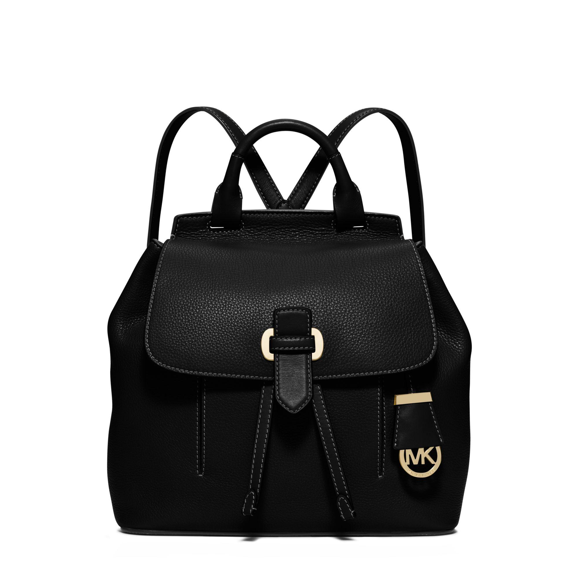 4c4399ca042d Lyst - Michael Kors Romy Medium Leather Backpack in Black