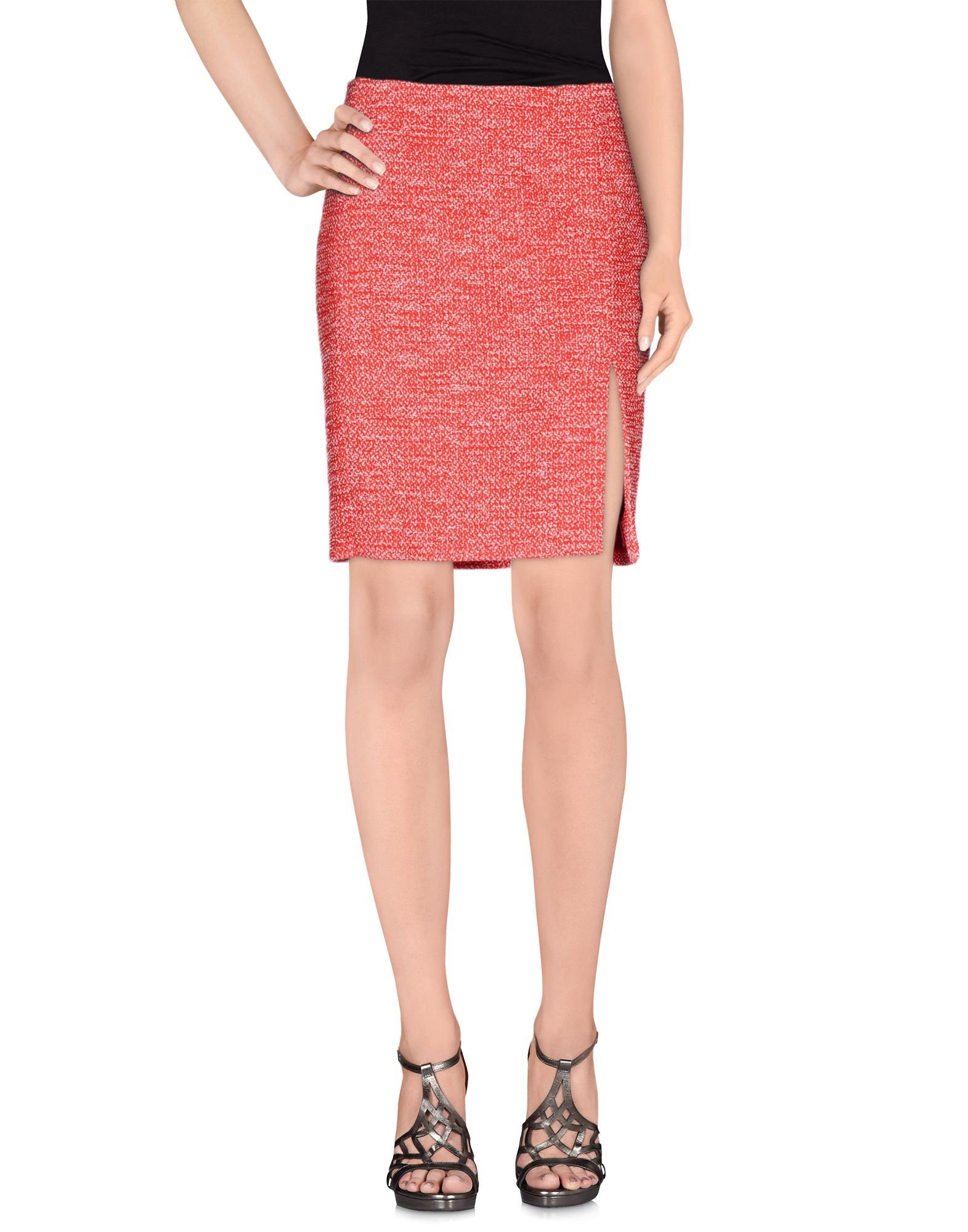 moschino knee length skirt in lyst