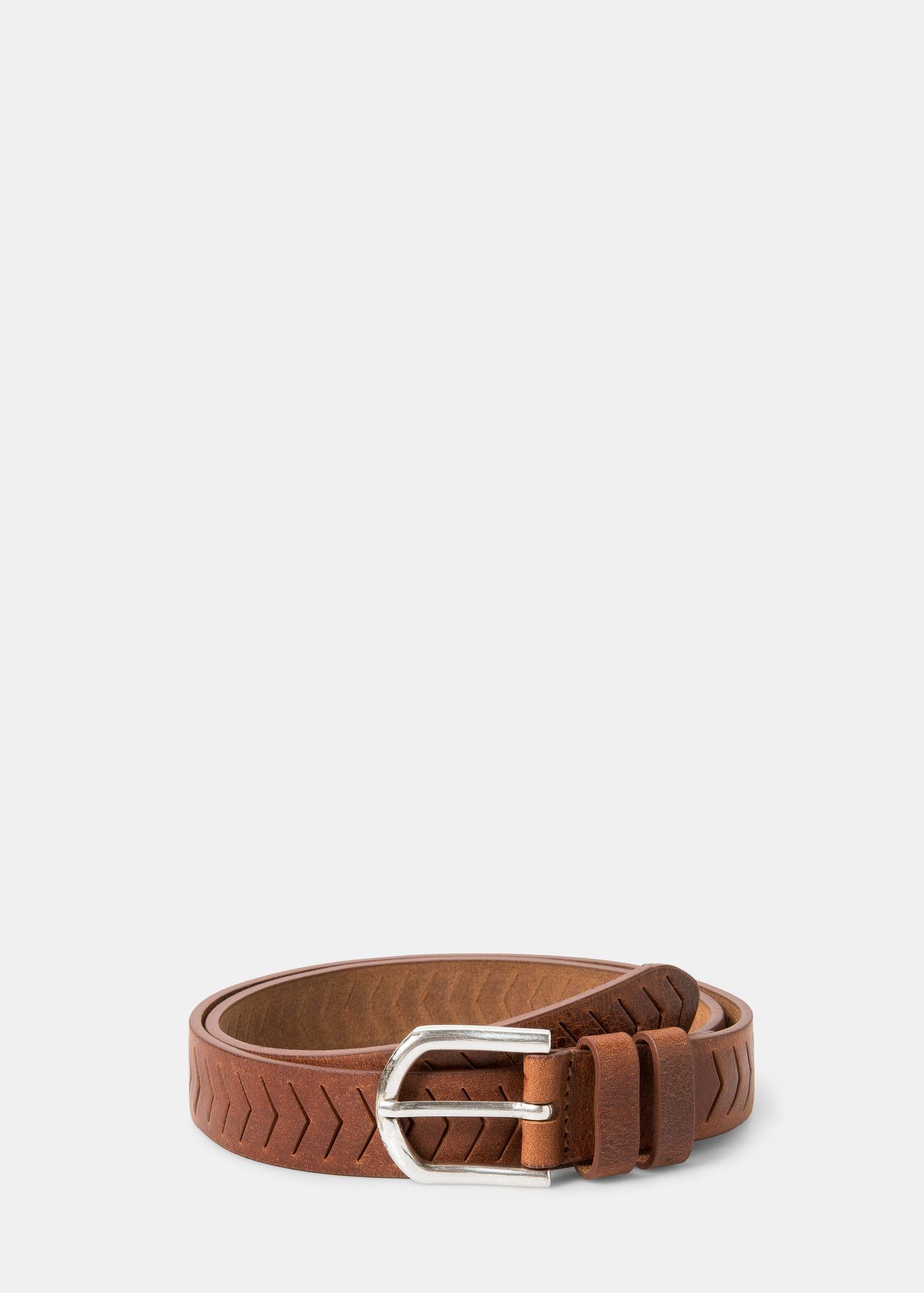 violeta by mango wide leather belt in brown lyst