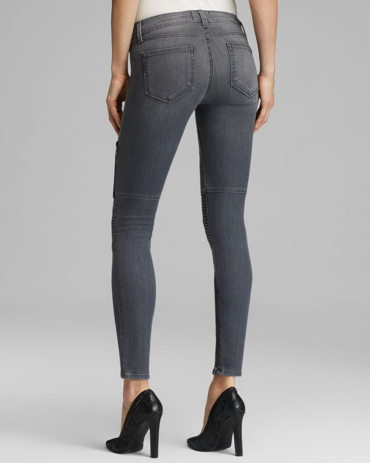 PAIGE Jeans Demi Ultra Skinny in Hart in Grey