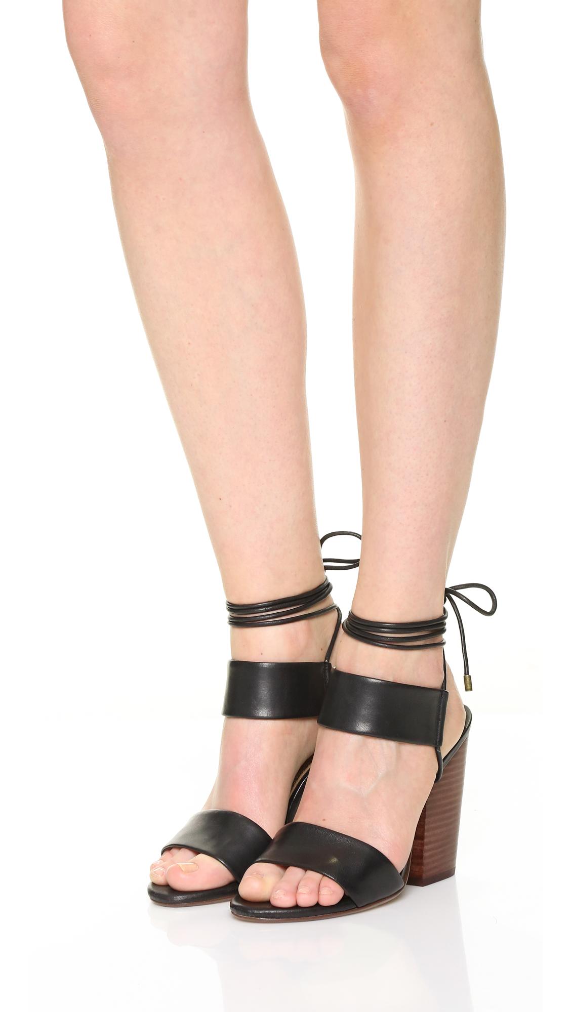 Splendid Kenya Chunky Heel Sandals in Black | Lyst