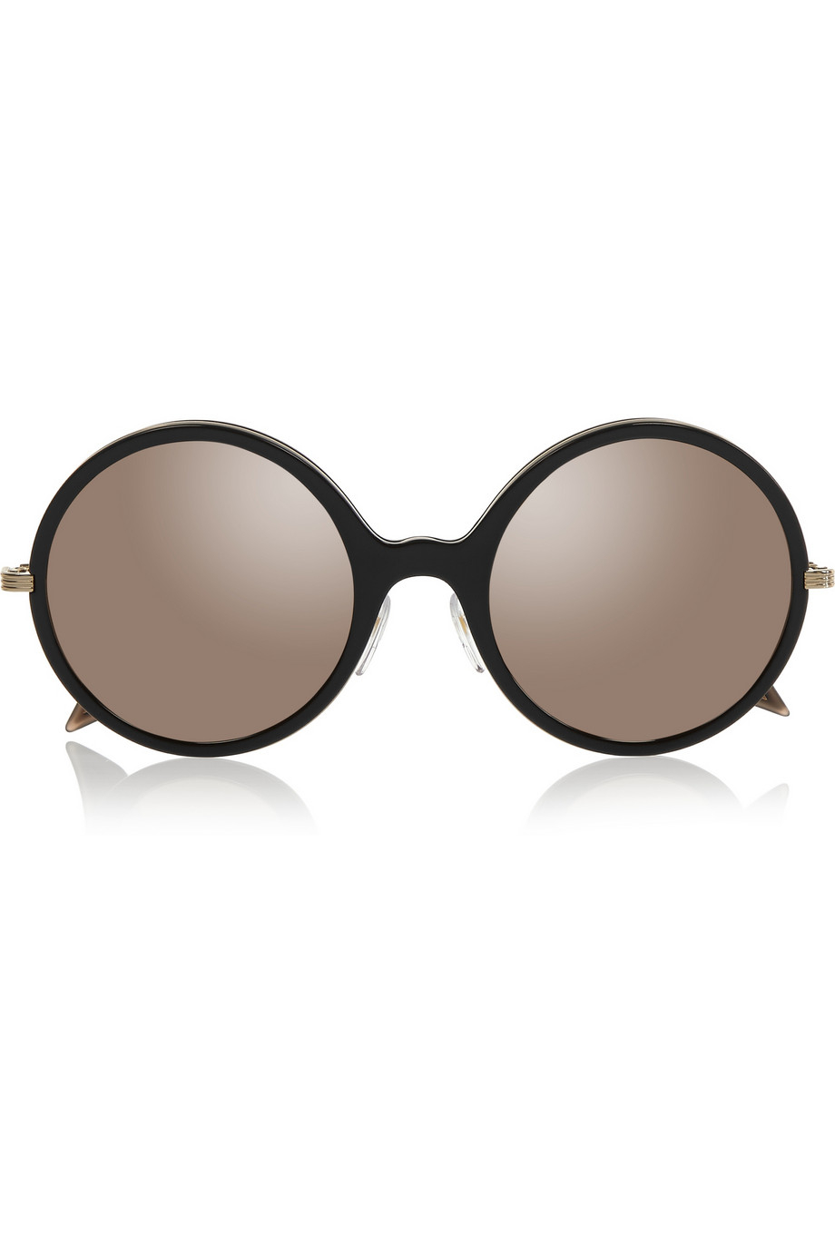 Victoria beckham Round-Frame Acetate And Gold-Plated ...