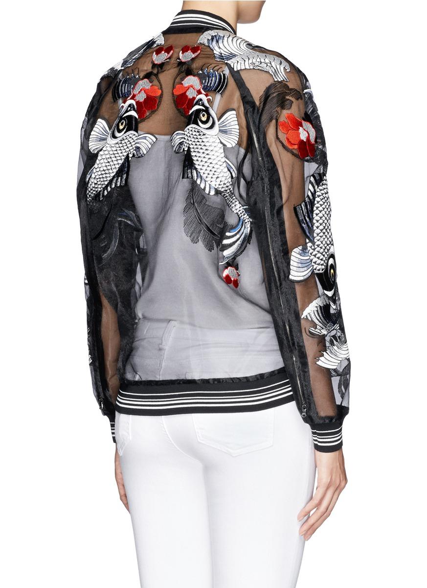 Lyst - 3.1 phillip lim Tattoo Embroidered Organza Jacket