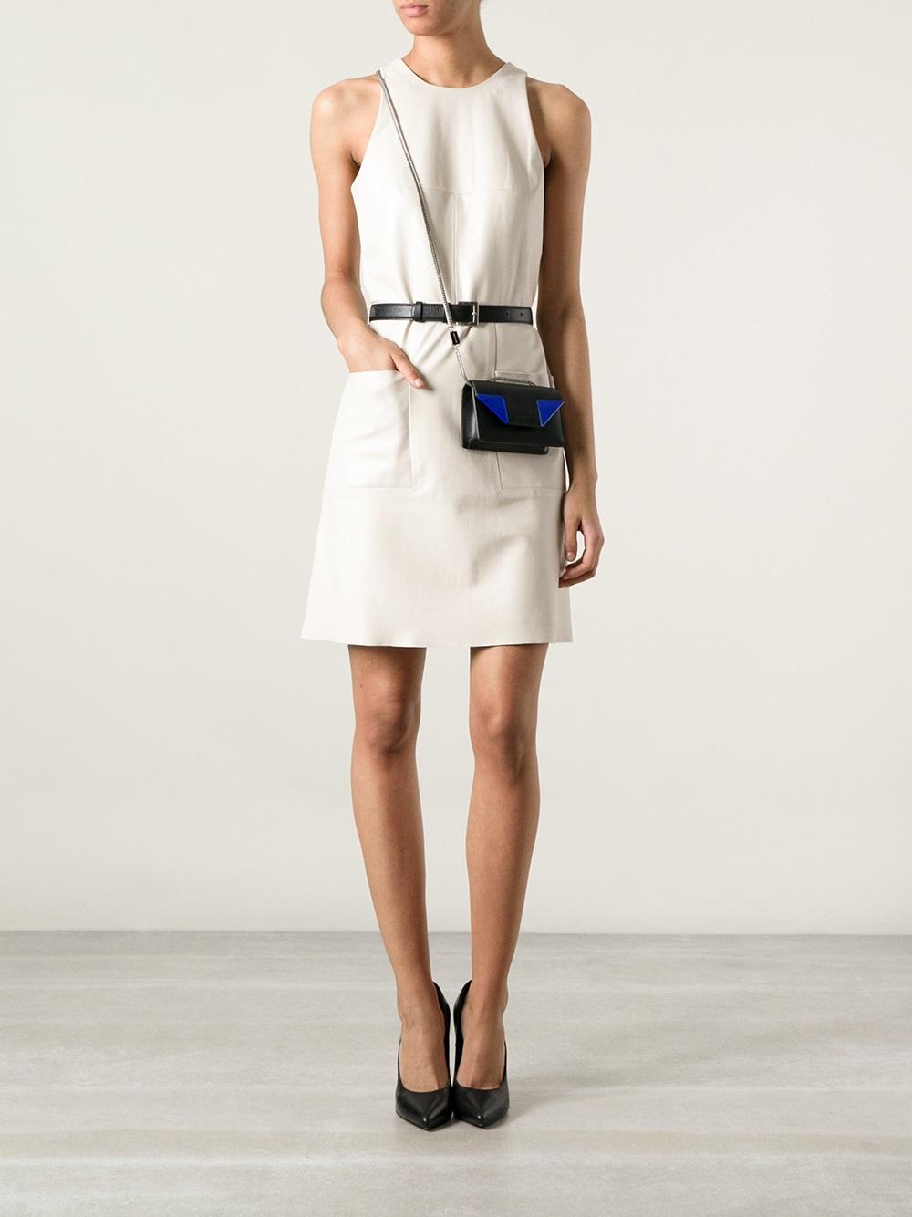 28209cb37fbdf Lyst - Saint Laurent Mini Betty Shoulder Bag in Black