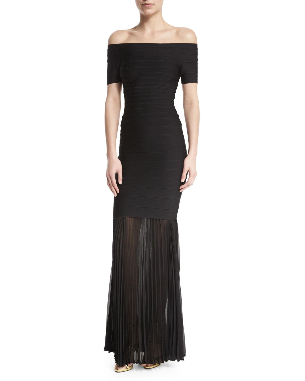 herv 233 l 233 ger sheer pleated georgette skirt extension in