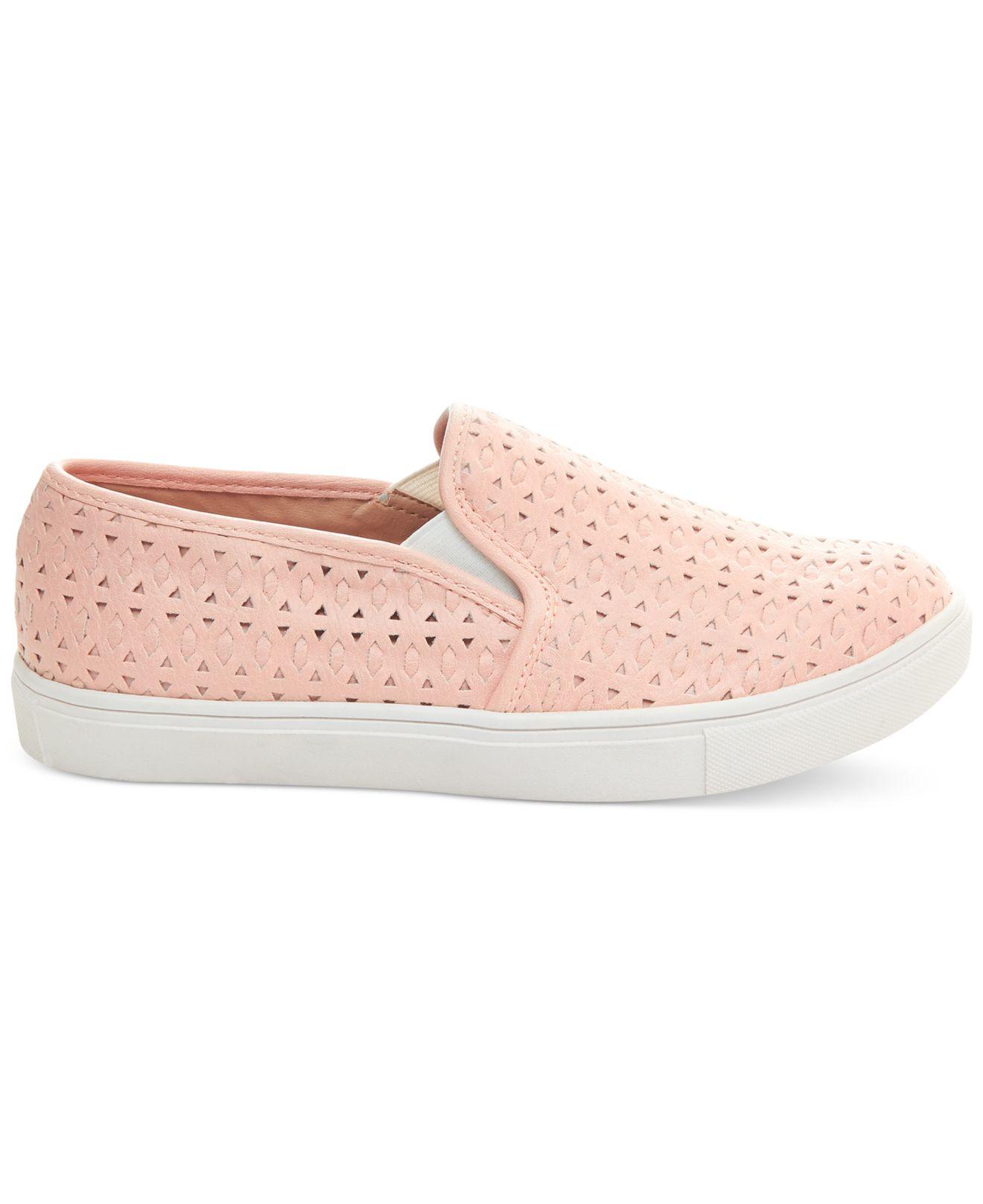 steve madden s excel slip on sneakers in pink lyst