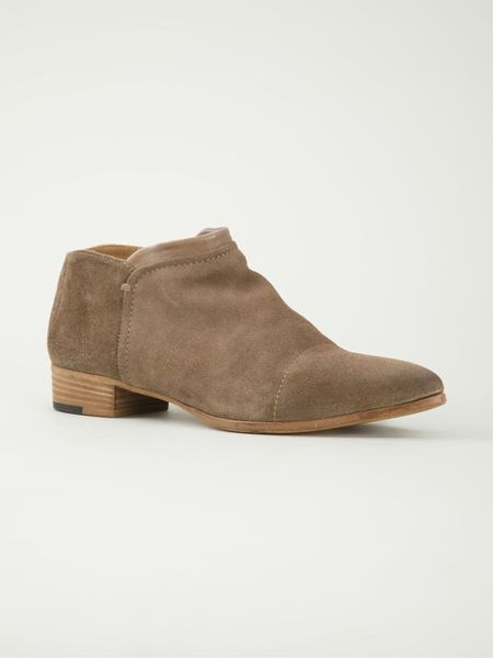 alberto fermani low chunky heel ankle boots in brown