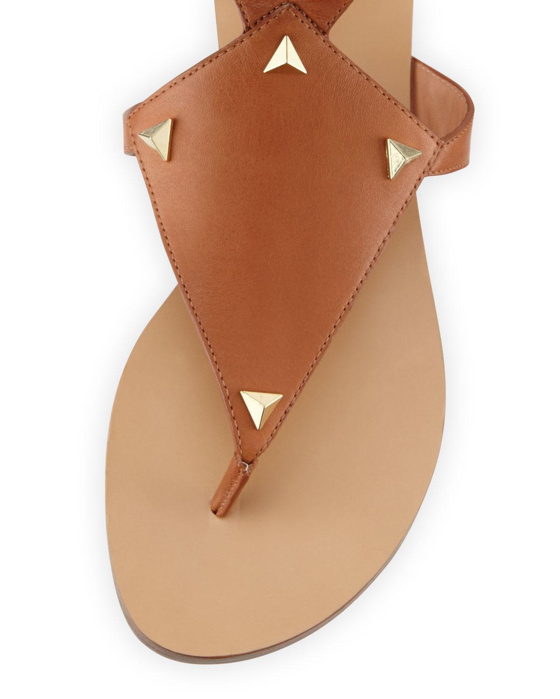 1372d21623ac Lyst - Sigerson Morrison Basper Studded Knee-high Gladiator Sandal in Brown
