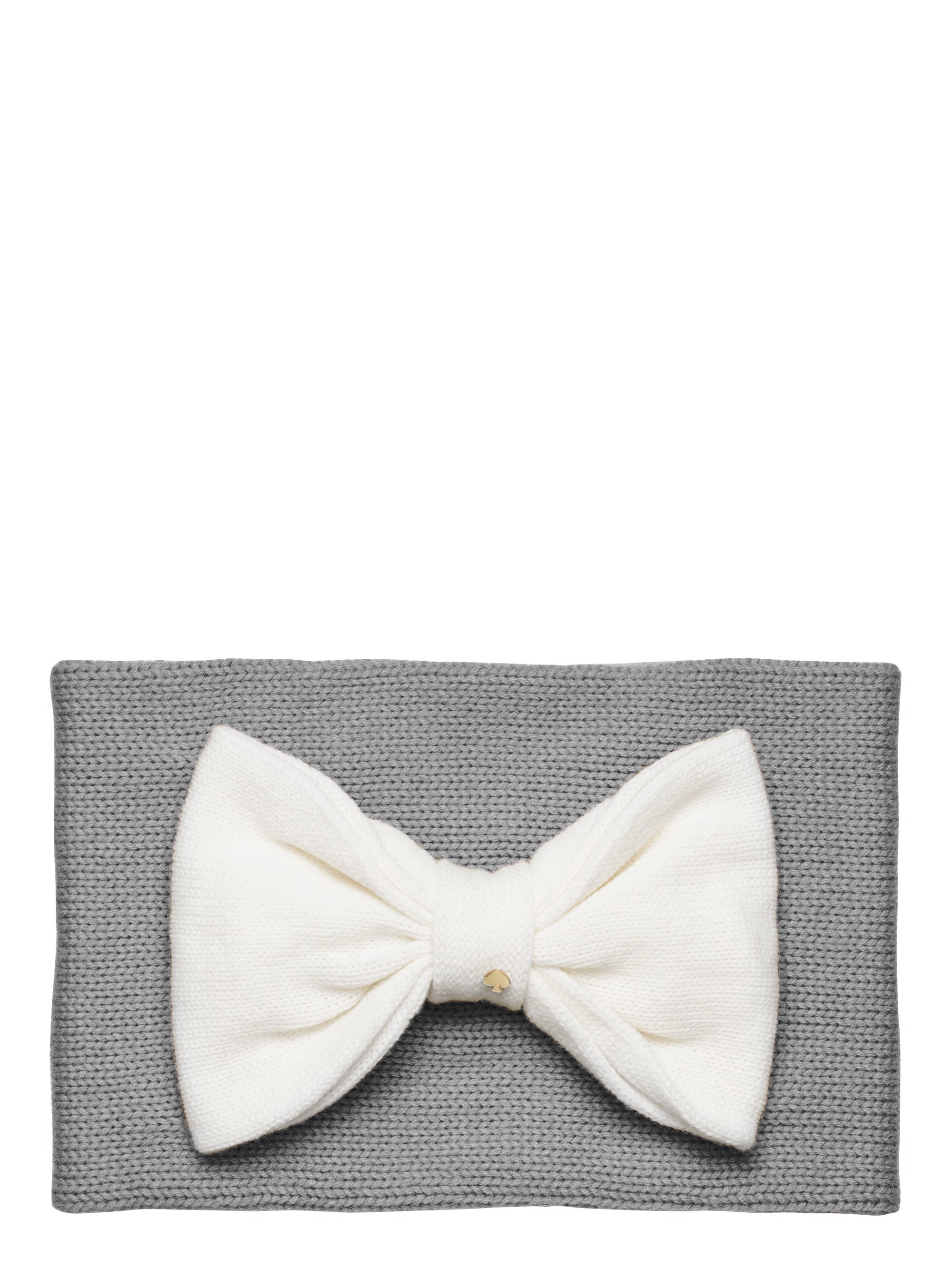 Kate spade color block bow neckwarmer in gray sweetheart pink lyst
